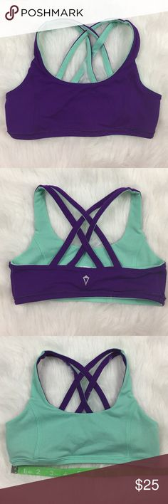 c3b5a94c09 Girls Ivivva Reversible Strappy Sports Bra in Mint This is a girls Ivivva  (by Lululemon