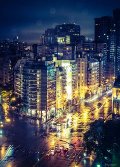 When it rains in Buenos Aires, the city continues to be beautiful