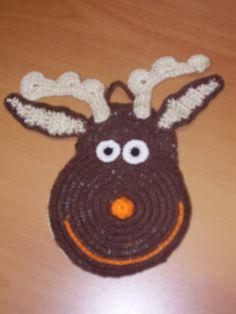 presina renna  a uncinetto di cotone di CREAZIONIFIOPI su Etsy, €9.90