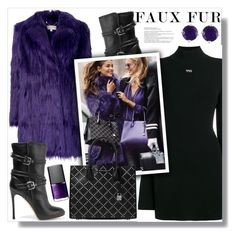 """""""Wow Factor: Faux Fur"""" by queenvirgo ❤ liked on Polyvore featuring MICHAEL Michael Kors, Off-White, NARS Cosmetics, Gianvito Rossi, Michael Kors and Effy Jewelry"""