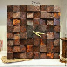 Часы для дома ручной работы. Ярмарка Мастеров - ручная работа. Купить Часы настенные из дерева. Handmade. Коричневый, часы деревянные