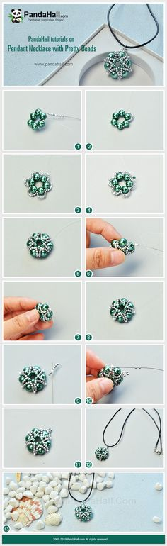 Beaded pendant for necklace tutorial pattern. Uses seed beads and pearls. Diy bead jewellery making Beaded pendant for necklace tutorial pattern. Uses seed beads and pearls. Diy bead jewellery making Seed Bead Jewelry, Bead Jewellery, Seed Beads, Jewellery Making, Necklace Tutorial, Diy Necklace, Pendant Necklace, Handmade Necklaces, Handmade Jewelry