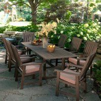 Love the long table for outdoor diner parties :) Teak = Sheak!