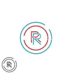 Combination rr logo hipster monogram letter r vector by SyzSV ...