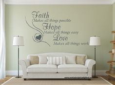 Faith Hope Love makes 100 x 60