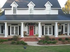 Southern Country Homes Tin Roof House Homestin Housered Door Housewhite