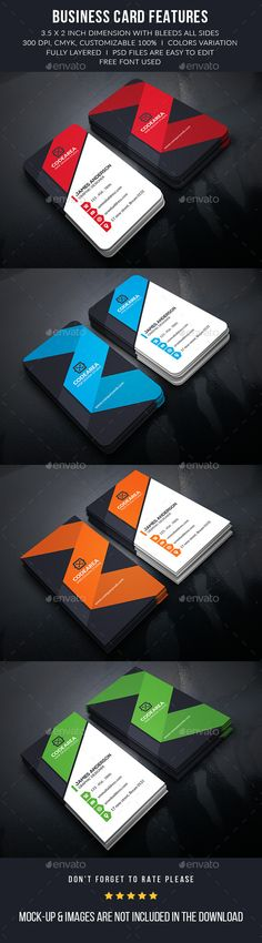 Shape Corporate Business Cards