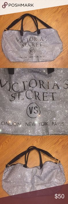 The perfect sleepover or vacation bag it's up to How far do you want to go the perfect carry-on or just a day at the beach silver glitter top zip 25 inches long 13 inches high 8 inches wide fully lined a very durable 💼 Victoria's Secret Bags Travel Bags Glitter Top, Silver Glitter, Sleepover Activities, Victoria Secret Bags, Fashion Tips, Fashion Design, Fashion Trends, Purses And Handbags, Travel Bags