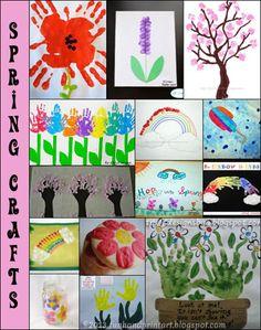 Spring Handprint Crafts for Kids