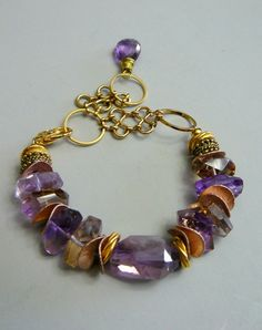 REMINDER:  USE FANCY DISCS I HAVE!!!.......................................SALE - Golden Ametrine with Ametrine, Gold and Rose Gold