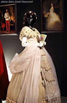 Dress worn by Empress Elisabeth of Austria, late 1800s. Sissi Museum, Hofburg Palace, Vienna.