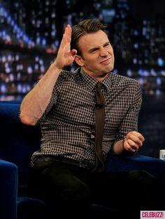 Chris Evans on Jimmy Fallon. Love them both!