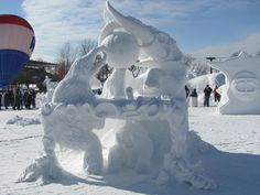 Pin The Snow Sculpting Teams Winning Design Entitled Value on ...