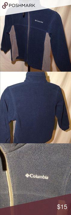 Boys Columbia fleece jacket Navy and tan. Has been worn but great shape. Size 8 Columbia Jackets & Coats