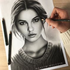 WANT A FEATURE ?   CLICK LINK IN MY PROFILE !!!    Tag  #LADYTEREZIE   Repost from @maksym_art   Please tag @realbarbarapalvin !  l used faber castell 9000 pencils on canson paper and it took me a lot of time ;) via http://instagram.com/ladyterezie