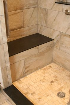 Awesome This Shower Bench Matches Nearby Custom #niches.