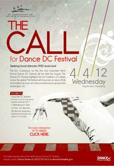 Call for dancers and musicians for Dance DC Festival