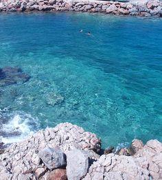 Swimming in Agios Nikolaos, Crete island ~ Greece