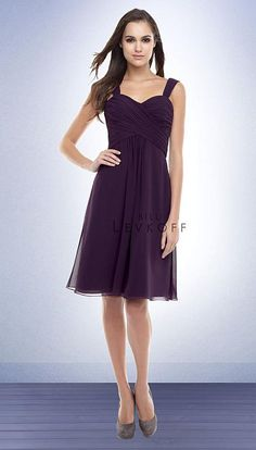 One of the bridesmaid dress silhouettes. Color shown in plum (which will be the color for all 3 dress silhouettes).
