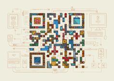 Illustrated QR codes