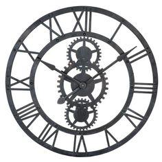 Reloj negro de metal Diám. 76 cm TEMPS MODERNES