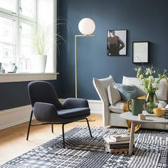 This is the colour for my bedroom walls. Blue Rooms, Modern Home Interior Design, Room Inspiration, Home And Living, House Interior, Home Living Room, Living Room Inspiration, Home, Interior