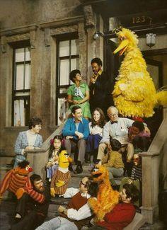 Photo of Sesame Street original cast.