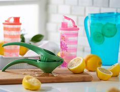 Extract maximum citrus flavor with the Tupperware #zestnpress | Try this perfect lemonade recipe from Simply Recipes: http://www.simplyrecipes.com/recipes/perfect_lemonade/