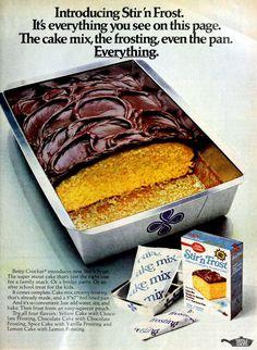 Retro Recipes, Vintage Recipes, Italian Cream Cakes, Box Cake Mix, Cake Mixes, School Treats, Old Fashioned Recipes, Spice Cake, Oldies But Goodies