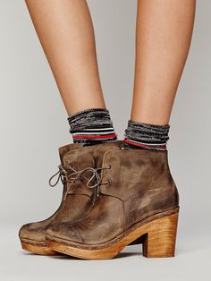 Not sure about this one. Free People I'm With A Dreamer Clog Boot at Free People Clothing Boutique #newyearstylechallenge