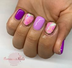 Purple Margarita, Marilyn and Pixie with born pretty flakes and gold foils! Nails On Fleek, Nail Tech, Swag Nails, Flakes, Gold Foil, Margarita, Gel Nails, Pixie, Nailart