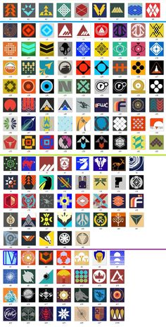 All current Destiny emblems