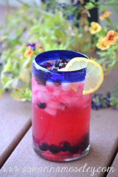 Blueberry infused vodka lemonade