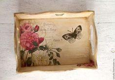 """Ręcznie kuchnia. Targi Masters - ręcznie tacy z serii """"Vintage Rose"""". Handmade."""