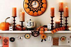 Repisa de la chimenea de Halloween Ideas de decoración