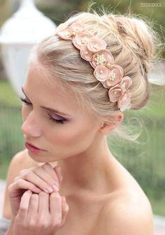 Items similar to Beautiful dark blush tie-back headband on Etsy Diy Headband, Floral Headbands, Flowers In Hair, Fabric Flowers, Wedding Hair Clips, Diy Hair Bows, Hair Ornaments, Wedding Hair Accessories, Hair Jewelry