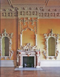 claydon House...love this color and mirrors