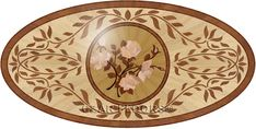 Larger image for P26 In Wood Medallions - part of Czar Floors collection of unique decorative flooring products.