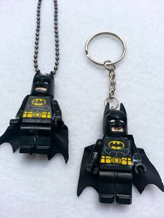 BOGO Promo Until March 15. Buy 1 Lego Necklace BATMAN Justice League Inspired Get 1 Keychain FREE Superhero Party Favors Toys on Etsy, $12.00