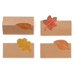 Autumn Leaf Place cards - 10 count Spritz™ : Target