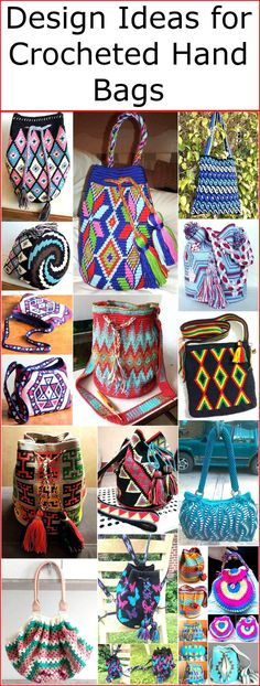 Hand bags are considered as an important part of fashion and they are liked by the girls to be carried as they believe that hand bags enhances their look when they have a hand bag matching with every dress. It is not mandatory to get a handbag from t Crochet Purse Patterns, Crochet Pouch, Crochet Bags, Crochet Flower, Easy Crochet, Flower Patterns, Crochet Ideas, Crochet Handbags, Crochet Purses
