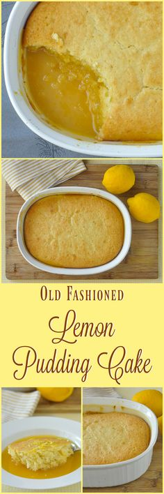 Lemon Pudding Cake - an ultimate lemon comfort food dessert that combines a bright, flavourful lemon cake baked on top of a tart, tangy, but not too sweet lemon sauce.