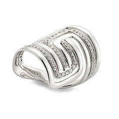 Anel de ouro branco 18K com diamantes http://m.hstern.com.br/joia/anel/roberto-burle-marx/A3B196310