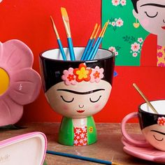 Sass and Belle Frida Kahlo Shaped Planter   Maia Gifts