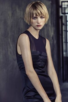 Black Dress, storm clothing - All For Hair Cutes Short Bob Hairstyles, Hairstyles With Bangs, Cool Hairstyles, Medium Hair Styles, Short Hair Styles, My Hairstyle, Good Hair Day, Dream Hair, Hair Today