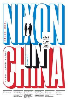 Apeloig - Nixon in China Châtelet Théâtre musical de Paris 2012 100 × 150 cm Sérigraphie, Lézard Graphique, Brumath (Alsace)