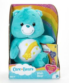 Let your little one cuddle and play with this soft plush while enjoying a classic Care Bear cartoon adventure featured on the DVD included in this sensational pairing.   CHOKING HAZARD: Small parts. Not for children under 3 years