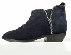 $828 GOLDEN GOOSE BOOTS 39 Blue Suede Ankle Boots  'India' *PRIMO* Size 9 #GoldenGoose #AnkleBoots