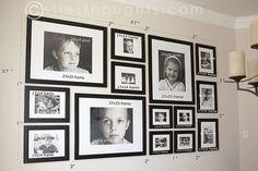 Christies Fotogaleriewand mit Abmessungen. Weil sie so großartig ist , #abmessungen #artig #christies #fotogaleriewand