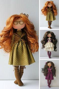 Tilda doll Fabric doll Muñecas Textile doll Orange doll Birthday doll Handmade doll Interior doll Art doll Cloth doll Rag doll by Olesya N